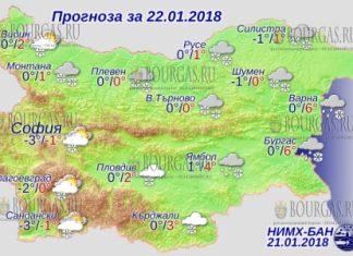 22 января 2018 года, погода в Болгарии