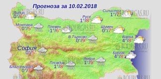 10 февраля 2018 года, погода в Болгарии