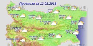 12 февраля 2018 года, погода в Болгарии