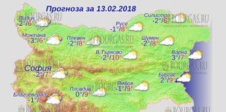 13 февраля 2018 года, погода в Болгарии