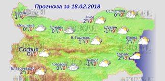 18 февраля 2018 года, погода в Болгарии