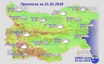 21 февраля 2018 года, погода в Болгарии