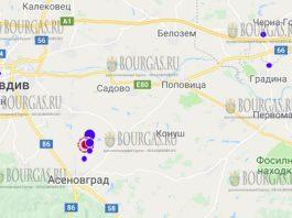 23 февраля 2018 года в районе город Асеновград в Болгарии произошло землетрясение силой 3,8 балла по шкале Рихтера