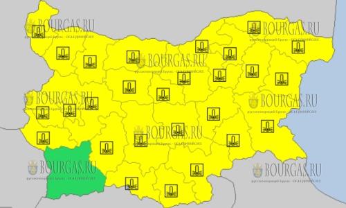 27 февраля 2018 года - морозный Желтый код в Болгарии