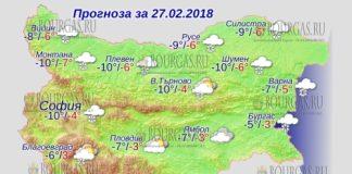 27 февраля 2018 года, погода в Болгарии
