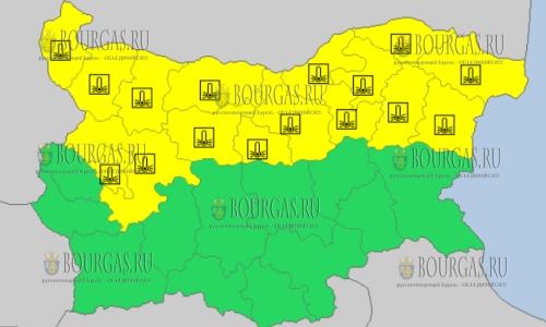 28 февраля 2018 года - морозный Желтый код в Болгарии