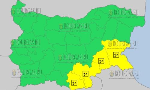 4 февраля 2018 года, дождливый и ветреный Желтый код опасности в Болгарии