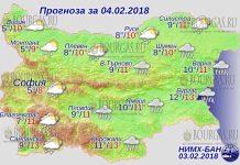 4 февраля 2018 года, погода в Болгарии