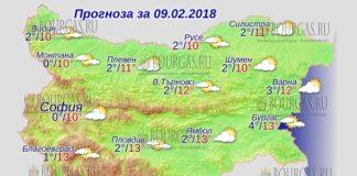 9 февраля 2018 года, погода в Болгарии