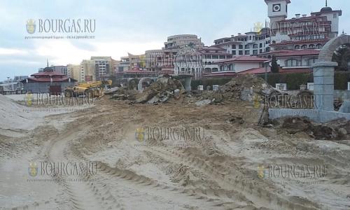 Концессионер пляжа Солнечный Берег-Север удалил поле для мини-гольфа