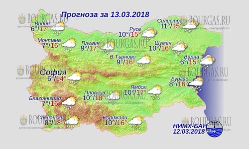 13 марта 2018 года, погода в Болгарии