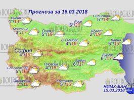 16 марта 2018 года, погода в Болгарии