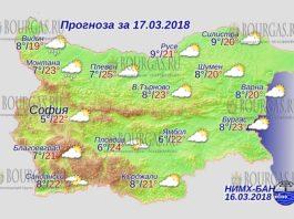 17 марта 2018 года, погода в Болгарии