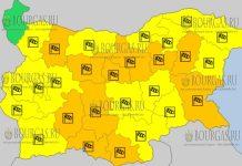 17 марта 2018 года - ветреный Желтый код в Болгарии
