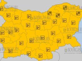 18 марта 2018 года - ветреный и дождевой Оранжевый и Желтый код в Болгарии