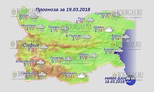 19 марта 2018 года, погода в Болгарии