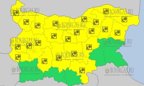 2 марта 2018 года - скользкий Желтый код в Болгарии