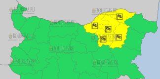 20 марта 2018 года - ветреный Желтый код в Болгарии