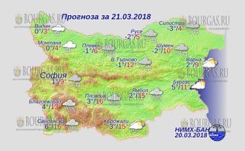 21 марта 2018 года, погода в Болгарии