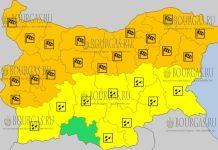 22 марта 2018 года - ветренный Оранжевый и Снежный Желтый коды в Болгарии