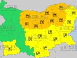 23 марта 2018 года - ветренный Оранжевый и Снежный Желтый коды в Болгарии
