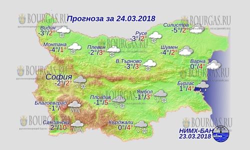 24 марта 2018 года, погода в Болгарии