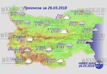 26 марта 2018 года, погода в Болгарии