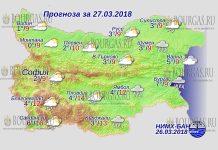 27 марта 2018 года, погода в Болгарии