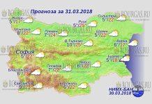 31 марта 2018 года, погода в Болгарии