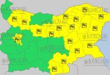 31 марта 2018 года - ветреный Желтый код в Болгарии
