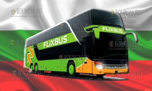 автобусный лоукостер Flixbus в Болгарии