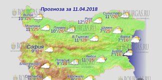 11 апреля 2018 года, погода в Болгарии