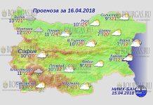 16 апреля 2018 года, погода в Болгарии