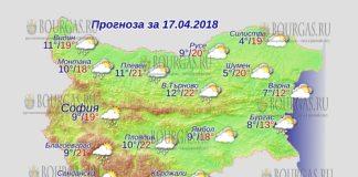 17 апреля 2018 года, погода в Болгарии