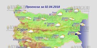2 апреля 2018 года, погода в Болгарии