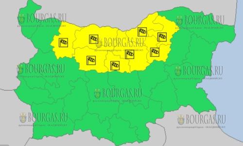 2 апреля 2018 года - ветреный Желтый код в Болгарии
