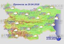 20 апреля 2018 года, погода в Болгарии