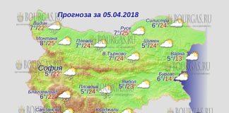 5 апреля 2018 года, погода в Болгарии