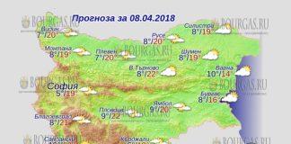 8 апреля 2018 года, погода в Болгарии