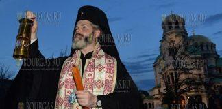 митрополит Антоний привез Благодатный огонь в Болгарию