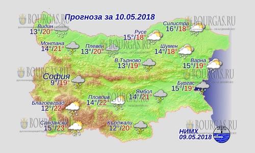 10 мая 2018 года, погода в Болгарии