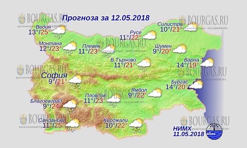 12 мая 2018 года, погода в Болгарии