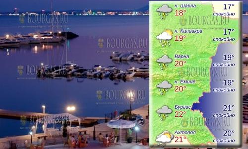 19 мая 2018 года, температура морской воды в Болгарии