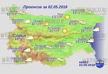 2 мая 2018 года, погода в Болгарии