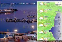 20 мая 2018 года, температура морской воды в Болгарии