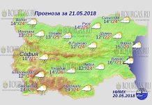 21 мая 2018 года, погода в Болгарии