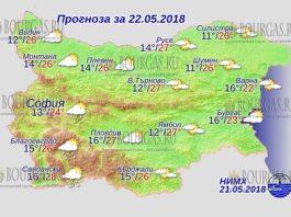 22 мая 2018 года, погода в Болгарии