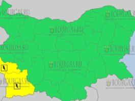 24 мая 2018 года - дождливый и грозовой Желтый код в Болгарии