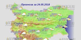 24 мая 2018 года, погода в Болгарии