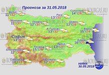 31 мая 2018 года, погода в Болгарии